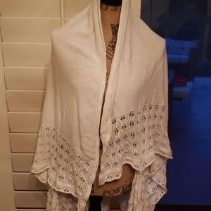 White Poncho. One Size